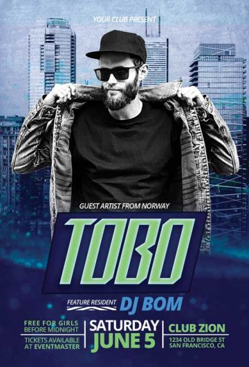 Free DJ Artist Flyer Template