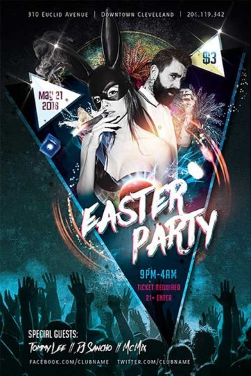 Free Easter Party Flyer Template